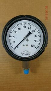 Vintage Marsh Instrument Co 100 Psi Precision Pressure Gauge 4 5 Dial Usa Steam