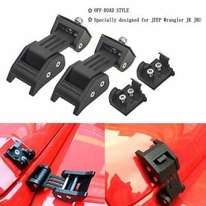 Upgrade Hood Latches Catch Set For 2007 2018 Jeep Wrangler Jk Unlimited Pair