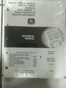 John Deere Log Skidder G ii Series 540 548gii 640 648 748g ii Technical Manual
