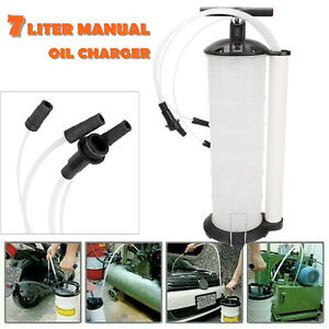 Manual 7 Liter Oil Fluid Changer Vacuum Extractor Pump Transfer Remover Tank