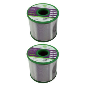2x Lead Free Solder Wire With Rosin Core For Electronic 500g 0 8 1 0mm
