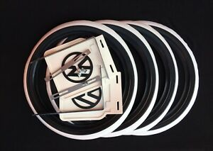Hot Rod 15 New Tire Trims Port A Wall White Line And Mud Flaps Vw Bug Beetle