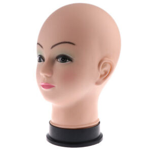 Mannequin Head Manikin Cosmetology Modle Wig Hat Earring Display Stand Pvc