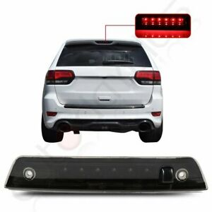 Black For 05 10 Jeep Grand Cherokee Smoke Third 3rd Brake Led Tail Light Lamp