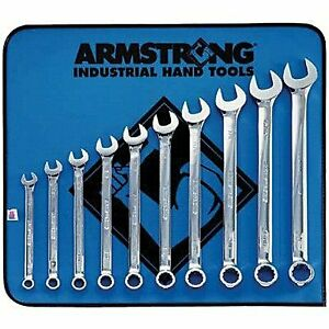 Armstrong 25 637 Standard Long Combination 12 Pt Wrench Set 10 Pc 7 16 To 1