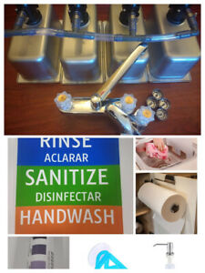3 Compartment Sink Portable Sink Concession Sink Hand Wash W drain Kit Extras