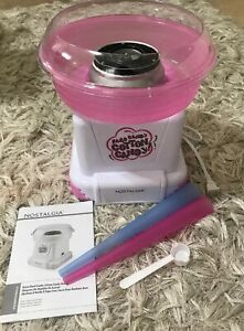 New Nostalgia Retro Hard Candy Cotton Candy Maker Pink White