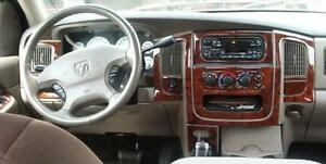 2003 2004 2005 Dodge Ram 1500 2500 3500 Interior Burl Wood Dash Trim Kit Set