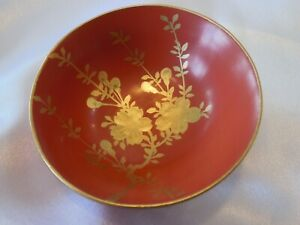 Vintage Japanese Lacquerware Sauce Dishes Red 2 1 2 X 1 Set Of 5