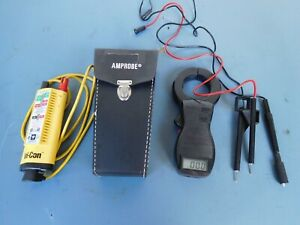 Vol con Voltage Probe And Amprobe Clamp On Meter With Leads Original Case