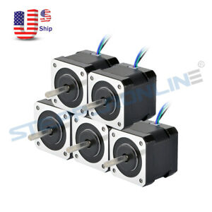 1 5x Stepper Motor Nema 17 64oz in 40mm 2a 4 wire W 1m Cable For Diy 3d Printer