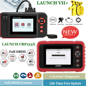 Launch X431 Creader Vii Crp123x Obd2 Eobd Diagnostic Scan Tool Reader 4 Systems