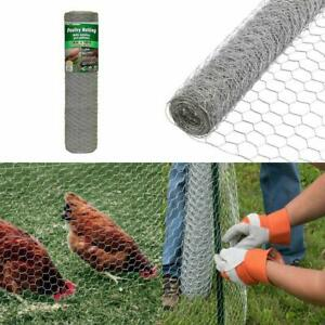 Chicken Wire Fence Poultry Netting 150 Ft Hexagonal 2 inches Mesh Weave Steel
