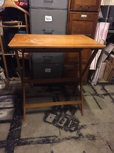 Vintage Wood Sewing Machine Table Folding Martin S Portable Unique Rare Cool