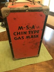 Msa Safety Industrial Gas Mask Mine Face Piece Chin Style