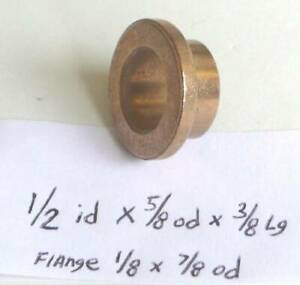 Oilite Flange Bushing Bronze New 1 2 Id X 5 8 X 3 8 Fl 50 2 Lot 100 Pieces