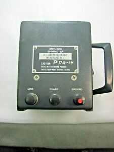 Megger Geg Ohmmeter Jfc Electronic Mini 500 Tested Ok See Pictures Loc A 4
