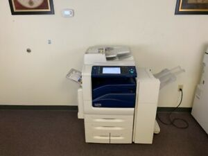 Xerox Workcentre 7855 Color Copy Machine Network Printer Scanner Fax Finisher