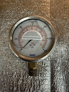 Wika Pressure Gauge 0 300 Psi 5 8 Npt Oil Filled Steampunk 316ss