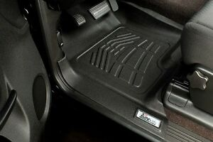 Front Row Floor Mats By Wade Black 2012 2015 Toyota Tacoma Double Cab