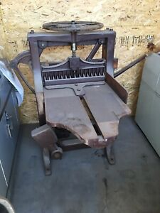 Antique Chandler Price Guillotine Hand Operated Paper Guillotine Cutter