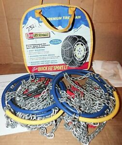 Les Schwab Quick Fit Sport Lt Tire Snow Chains Stock 2321 s Used