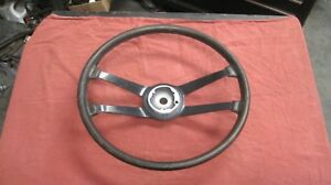 Porsche 911 912 Steering Wheel Early Original Vdm Leather Wrapped Used