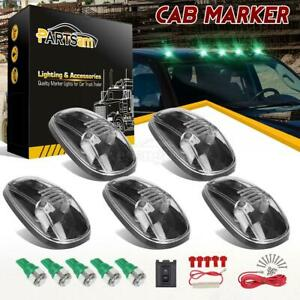 5x264145 Roof Clearance Clear Marker t10 5050 Green Led For Dodge Ram 2500 99 02