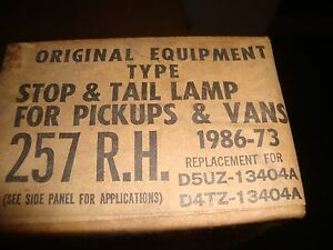 1973 1986 Ford Pick Up And Van Right Tail Light New In Box