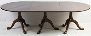Kittinger Williamsburg Mahogany Triple Pedestal Dining Table Cw 65