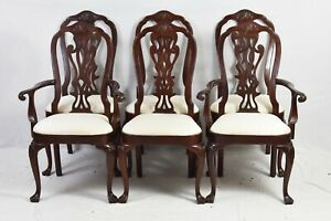 Councill Mahogany Philadelphia Queen Anne Style Set Of 6 Dining Chairs