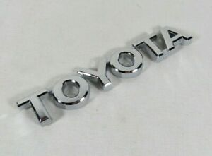 Toyota Tacoma Tundra Emblem Rear Tailgate Chrome Badge Back Sign Symbol Logo
