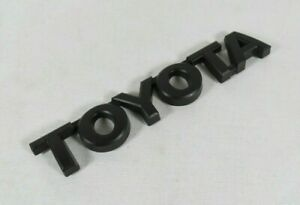 Toyota Tacoma Tundra Emblem Rear Tailgate Black Badge Back Sign Symbol Logo