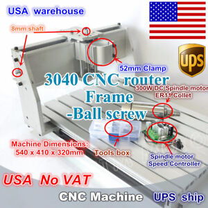 us Stock 3040 Cnc Router Milling Engraver Enrgaving Machine Kit