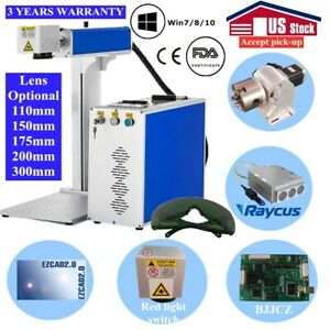 Us 30w Split Fiber Laser Marking Machine With Raycus Laser And Rotation Axis Fda