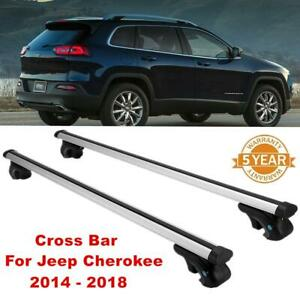 150lbs Roof Rack Cross Bar Top Cargo Luggage Carrier For Jeep Cherokee 2014 2018