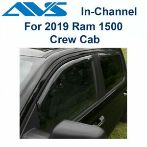 Avs Rain Guards In channel Window Vent Visor For 2019 Ram 1500 Crew Cab 194806