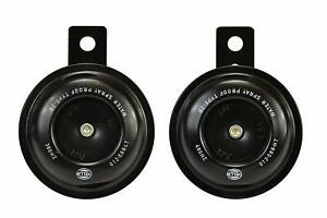 Hella 012588011 Motorcycle Series Black 12v Disc Horn Kit universal Fit set box