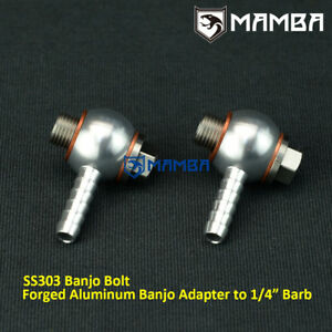 Precision 46mm Wastegate Air Forged Aluminum Banjo Fitting Kit Pte