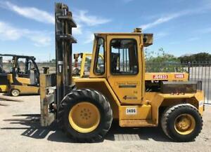 Sellick Sd80 Rough Terrain 4x4 Forklift W Side Shift Fork Positioners
