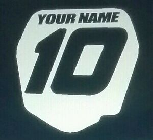 4in Motorcross Number Decal Mx Bmx Racing Gift Car Truck Window Toolbox Sticker