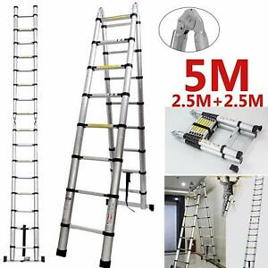16 Steps Climb Ladder Loft Attic For Business Home Work Diy Builder 330lb Load