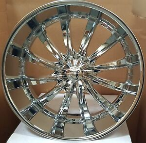 26 B19 Chrome Rims Wheels Tires Fit Silverado Suburban Yukon Denali Tahoe 24 28