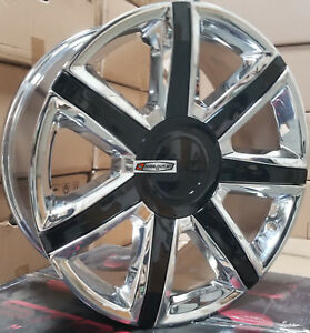24 Wheels Tires Cadillac Escalade Platinum Style Chrome Rims Ext Esv