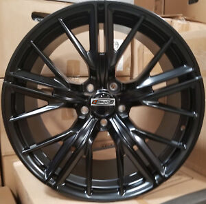 20 New Zl1 Style Wheels Satin Black Stagger Rims Fit Chevy Camaro Rs Ss Z28 Ls