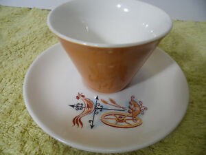 Brown White Cup And Saucer Rooster Weather Vane Brown Blue