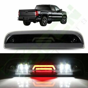 Fits 2014 2018 Silverado sierra Black smoke led Bar third 3rd Brake cargo Light