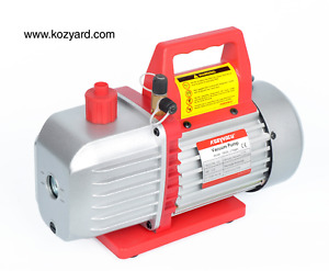 Kozyvacu 5cfm 2 stage Rotary Vane Vacuum Pump 5 0cfm 40micron 1 2hp For Ac Or