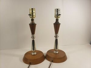 Mid Century Modern Table Lamp Pair