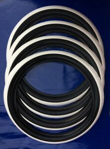 Classic Tire 13 Inch White Wall Port A Wall White Line stripe Set Of4 Hot Rod